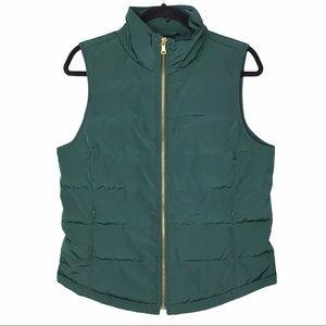Talbots Green Puffer Vest Sz S